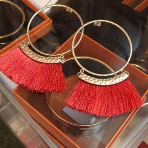 H&M Tassel Hoop Earrings